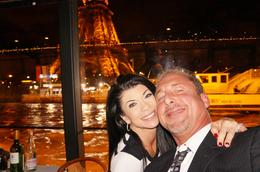 Photo of Paris Dinner Cruise on the Seine River with Hotel Pickup A  and quot;selfie and quot; under the Eiffel Tower portion of the cruise!