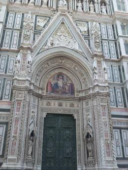 The Basilica di Santa Maria del Fiore (English: Basilica of Saint Mary of the Flower) is the main church of Florence, Italy. Il Duomo di Firenze, as it is ordinarily called, was begun in 1296 in the ... , gautamt - July 2013