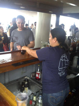 Service was great and a friendly guide talked us through the craft beer selection, Timetable Tim - May 2012