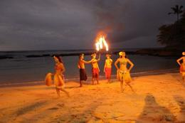 Fire dance on the beach! - January 2010