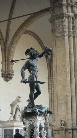 Sculpture of Perseus with Medusa's head., ALI M - October 2010