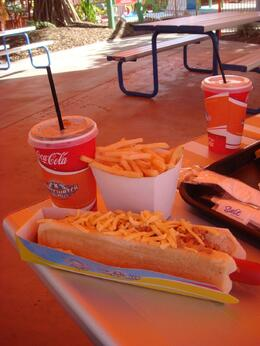 Photo of Gold Coast WhiteWater World Theme Park Gold Coast Australia Hotdog Combo