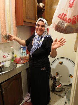 Photo of Istanbul Eat Like a Local: Istanbul Food and Culture Tour with Dinner at Local Family Home In the kitchen