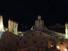 Photo of Barcelona Gaudí's La Pedrera at Night: A Behind-Closed-Doors Tour in Barcelona LaPedrera rooftop @ night