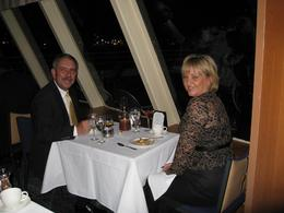 Larry and I enjoying our time on the NY Thanksgiving dinner cruise., Sheila J - November 2007