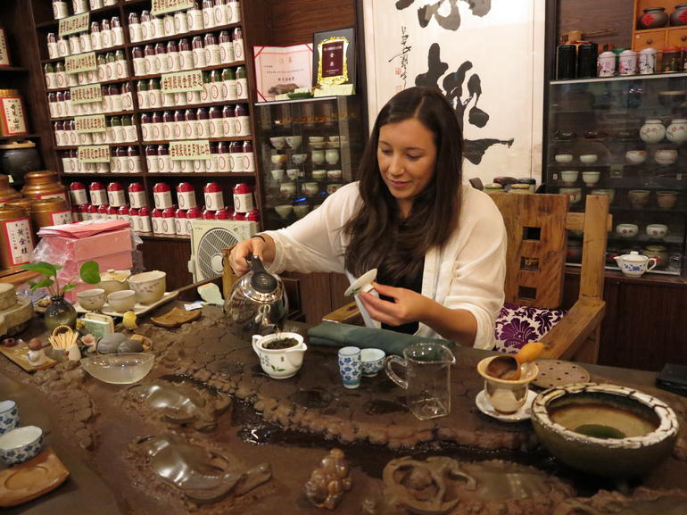 My turn at serving tea! - Shanghai