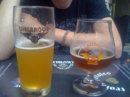 Maudite and Fin Du Monde beers at L'Oncle Antoine., kellythepea - October 2010
