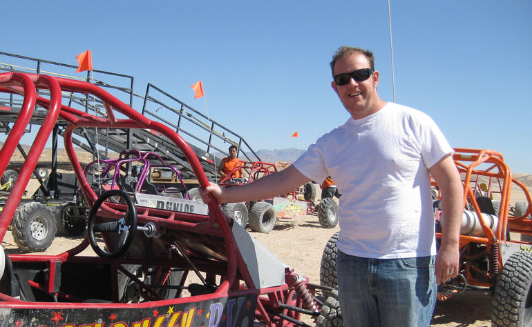 Sean with his buggy - Las Vegas