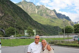 My wife and me while coming back by bus , Mohammad H - July 2013