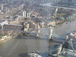 View of the The Tower Bridge from the Shard , Pavol K - January 2014