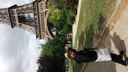Picture was taken when I first saw the Eiffel Tower. It is really a MUST to do while you are in Paris!! , Mary Jane N - June 2015