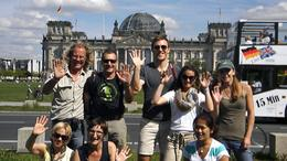 Group pic in front of Reichstag, Jodi R - September 2011