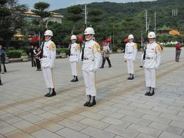 Like the ceremony at the Chiang Kai-Shek Memorial Hall, this was very solemn and impressively well undertaken by the military personnel involved., Marshall D - November 2010