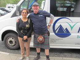 Photo of Glasgow Loch Ness, Glencoe and the Highlands Small Group Day Trip from Glasgow Driver tour guide in Scottish National dress