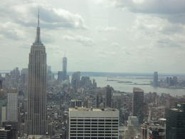 Photo of New York City Top of the Rock Observation Deck, New York Empire State building from Rockafeller Tower