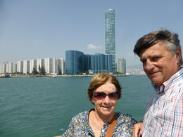 David and Pauline enjoying Hong Kong Harbour cruise , David M - October 2014