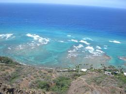Photo of Oahu Diamond Head Crater Sunrise Small Group Adventure Looking down from Diamond Head Crater