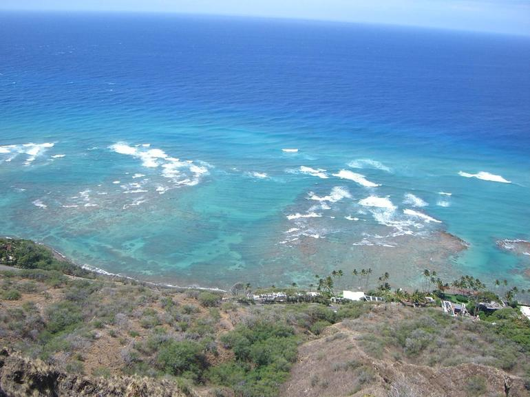 Looking down from Diamond Head Crater - Oahu