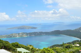 View of Magen's bay from the top of the mountain , Valerie C - March 2014