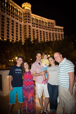 Photo of Las Vegas Viator Exclusive: Las Vegas Strip by Limo with Personal Photographer My family in front of Bellagio
