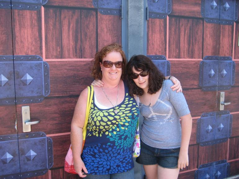 outside shrek ride in sun - Anaheim & Buena Park