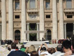 Photo of Rome Papal Audience Ticket at Vatican City Pope's seating area