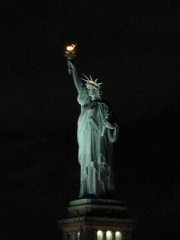 What a wonderful sight this was. So different at night to see the Statue of Liberty lit up., Sheila J - November 2007