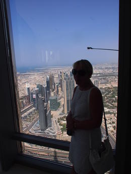 Dubia a view from the top of the burj khalifa , Edward James G - November 2014