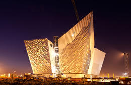 Photo of Dublin Titanic Visitor Experience and Giant's Causeway Day Trip from Dublin 1  Titanic Museum at Night