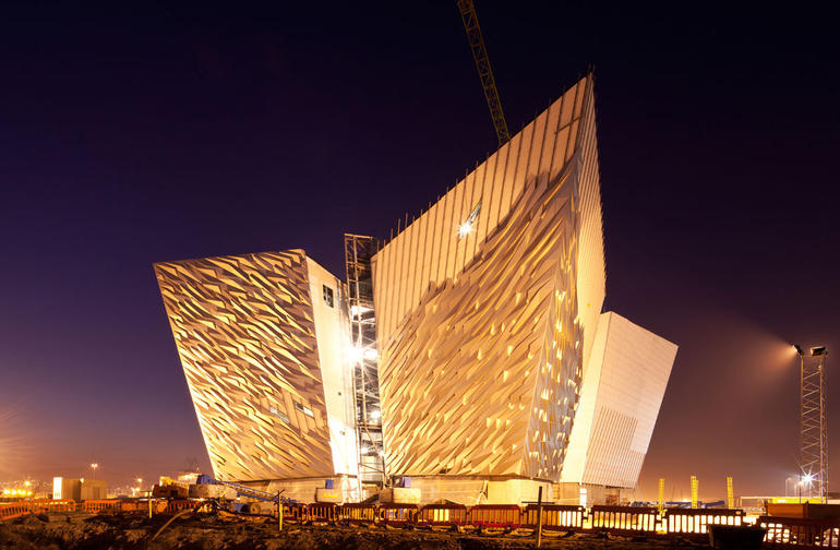 1  Titanic Museum at Night - Dublin