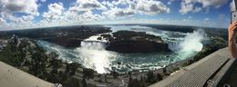 Here we are on the observation deck of the Skylon Tower. It was a very clear day and we were able to see all the way to Lake Erie. , Amanda G - August 2015