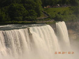 American falls where 10% of the water of Niagara river flows over. , RAKESH A - July 2011
