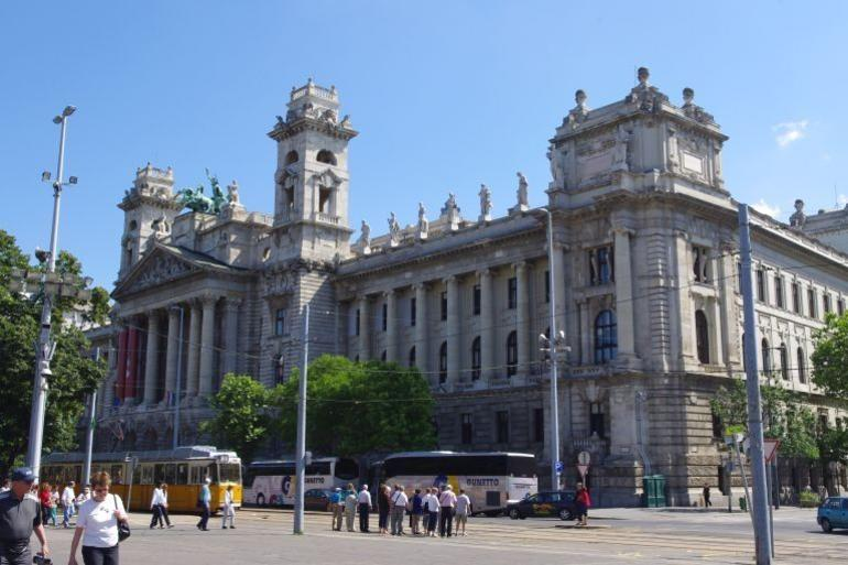 Building across road of Parliament - Budapest