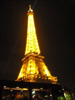 The tower lights up at night - gorgeous!, Frances - April 2010