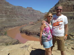 Ian and Maz on our epic tour of the Grand Canyon 2014 , ian h - August 2014