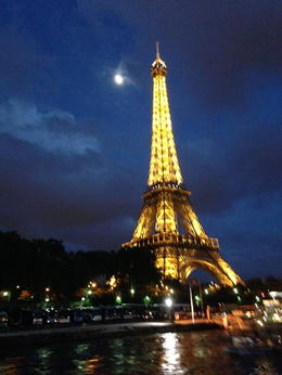 Approaching the Eiffel Tower after our cruise. , Charles E - May 2014
