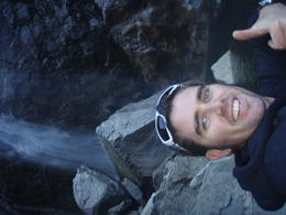 under the waterfall in yosemite national park tour was fun and the guide was very knowlegable , Adam N - January 2012