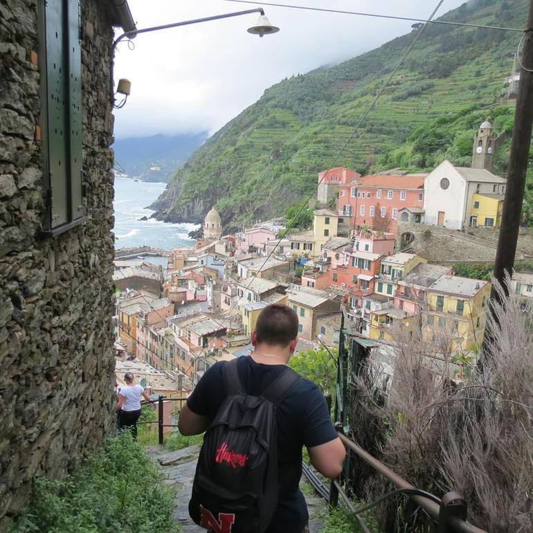 Arriving in Vernazza after hiking - Florence