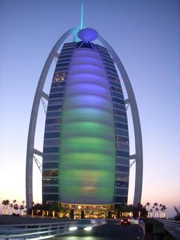 Photo of Dubai Dubai City Half-Day Sightseeing Tour Burj al Arab taken at dusk