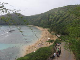 Shot of people walking down to the beach at Hanauma Bay,, Bandit - February 2011