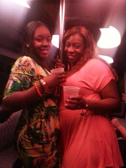On thr party bus with vegas rockstar. , Tiana J - March 2014