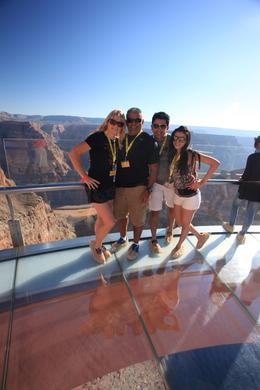 Photo of Las Vegas Ultimate 3-in-1 Grand Canyon Tour Picture on the famed skywalk.