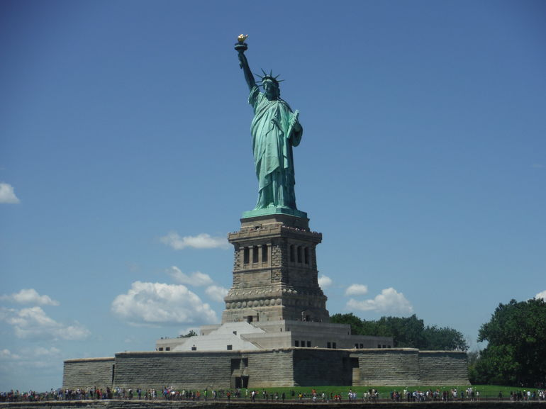 We got really close to statue, all of our pictures from the cruise were great.