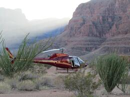 Sundance helicopter having landed in The Grand Canyon., Tina G - October 2010