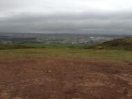 Photo of   view from part way up Arthur's seat