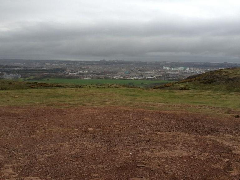 view from part way up Arthur's seat - Edinburgh