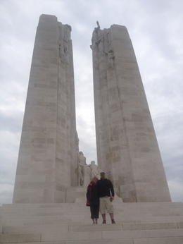 Mom and I at the Vimy Ridge memorial. A must see for Canadians , Kyle A - July 2013