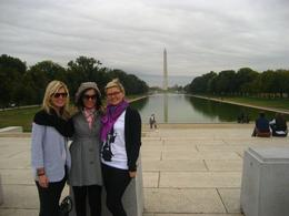 My sisters & I with the Washington Monument in the background, Megan E - November 2009