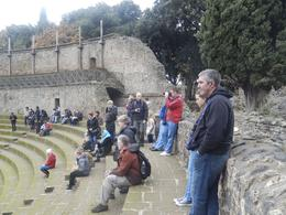 The group looking over the ampitheatre at Pompeii , Janet D - January 2014