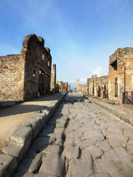 City of Pompeii average street. , Aubrie H - January 2013